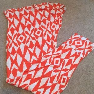 Dresses & Skirts - Orange and white maxi skirt